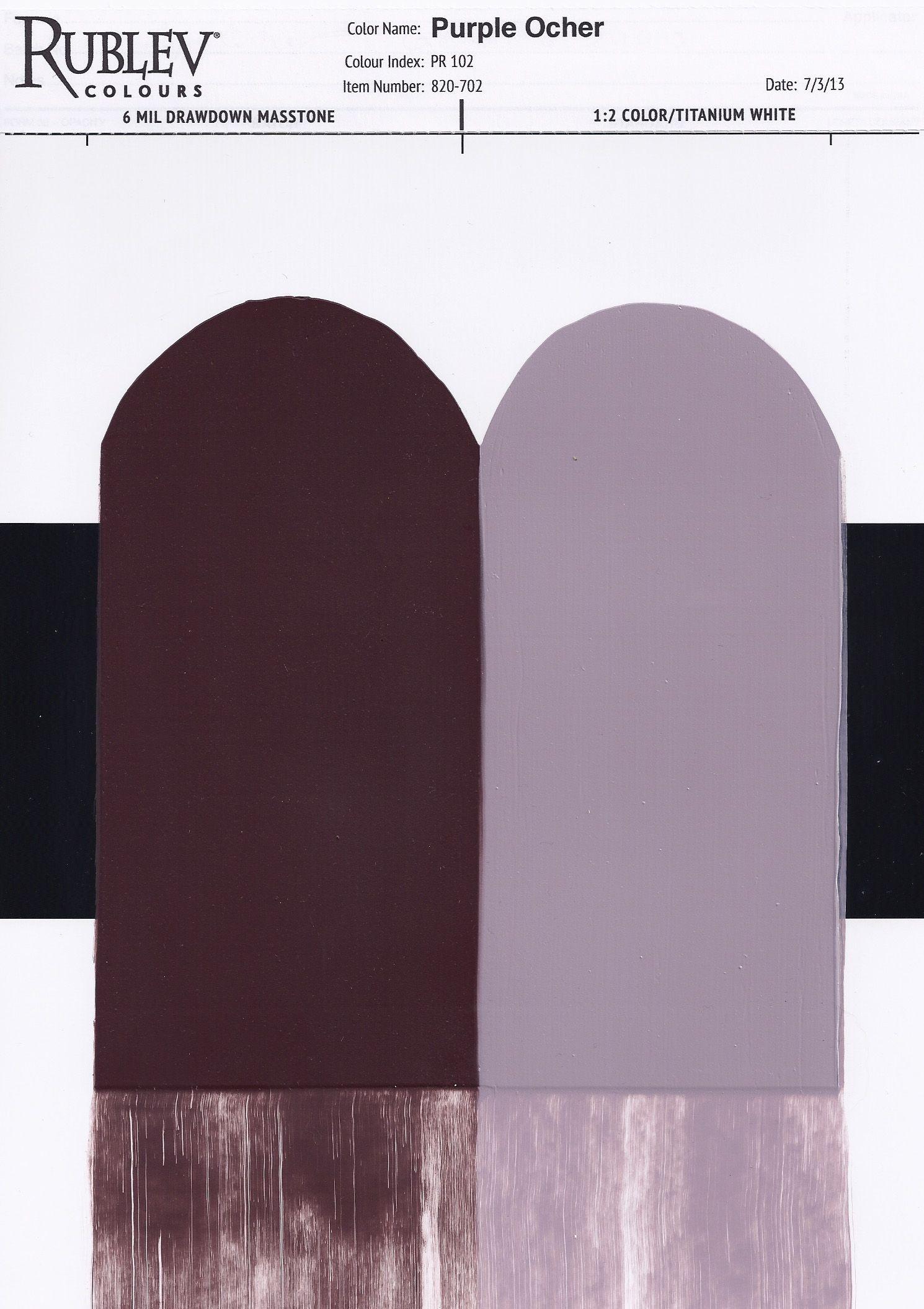 Rublev Colours Oleogel Rublev Colours Purple Ocher
