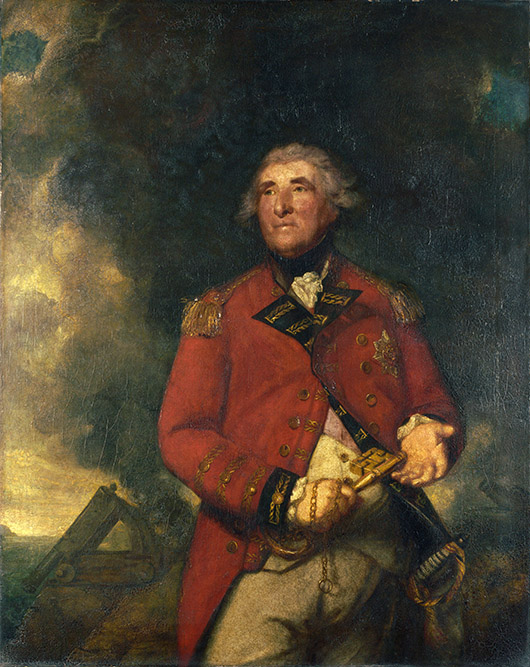 Lord Heathfield of Gibraltar by Joshua Reynolds (1723-1792), 1787, oil on canvas, 142 x 113.5 cm (55.9 x 44.7 in.), National Gallery, London