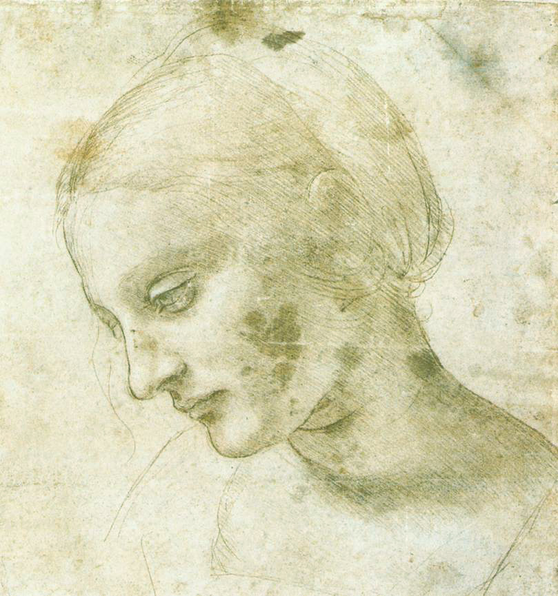 Study of a Woman's Head, c. 1490, Leonardo da Vinci