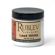 The most important of all the lead pigments; it is basic carbonate of lead. Rublev lead white is made by a modern process yielding a finely divided powder of high purity.